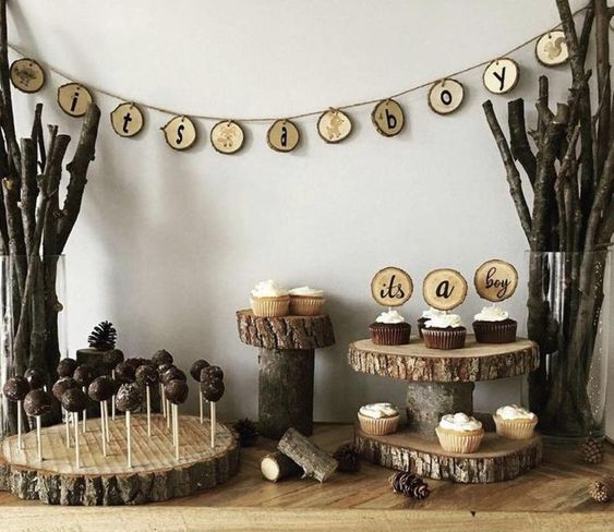 baby shower decoration with wod