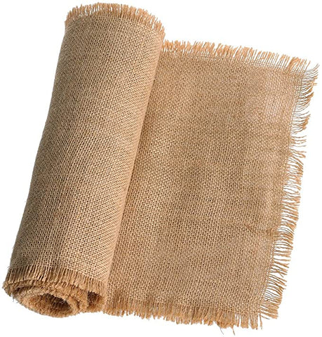 Fringe Jute Burlap Table Runner for Rustic Country Wedding Party