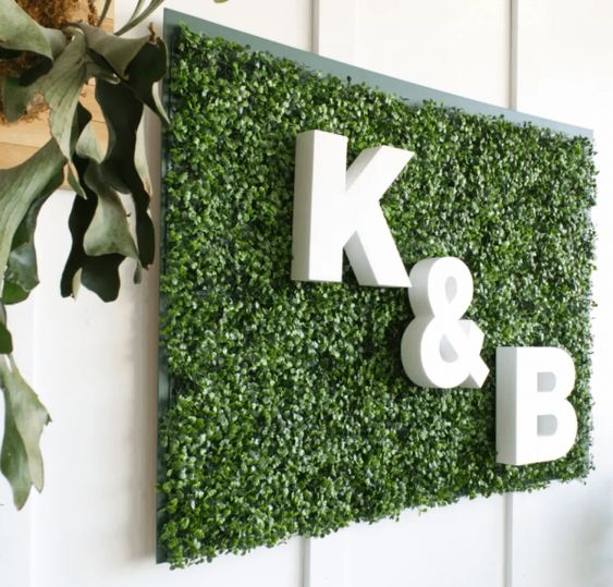 Letter K&B as decorations