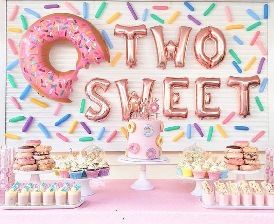 Colorful sweets decorations