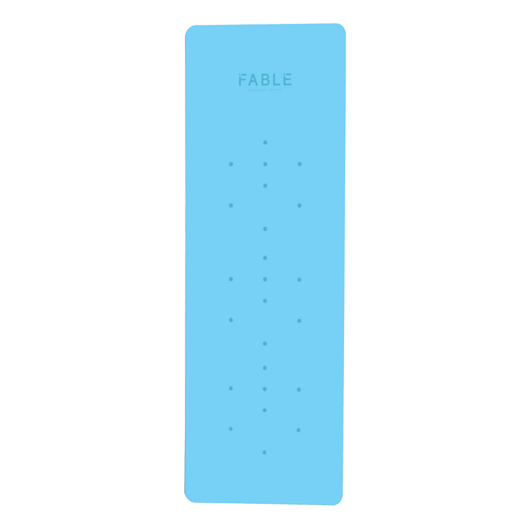FABLE 4MM PRO GRIP STUDIO MINDFUL MAT - SKY BLUE