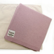 Load image into Gallery viewer, Moss Stitch Blanket - 75cm x 75cm