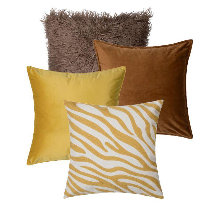 Collection Savane Jaune 4 coussins