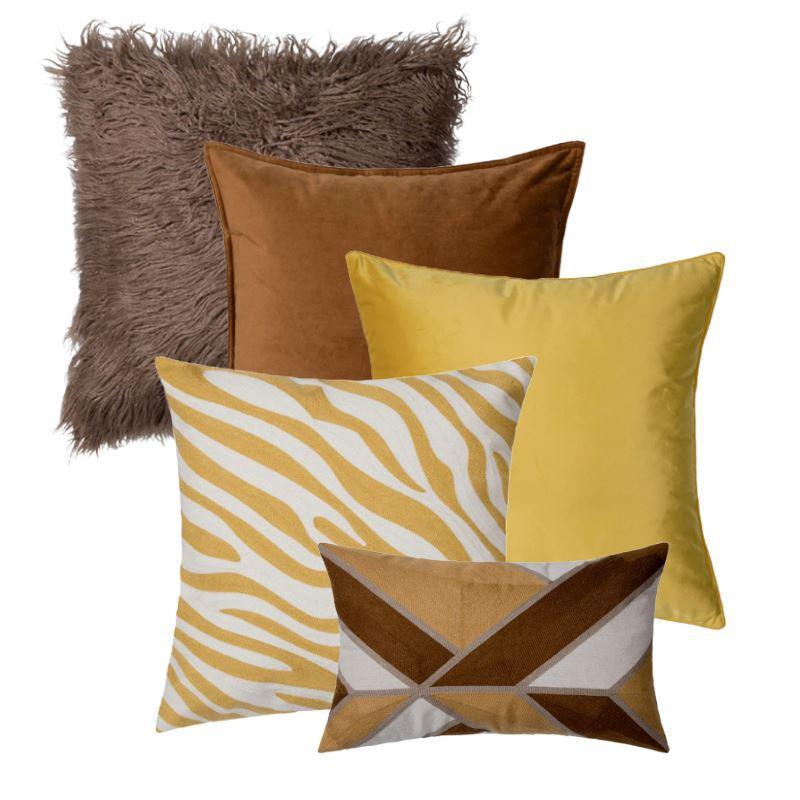 Collection Savane Jaune 5 coussins