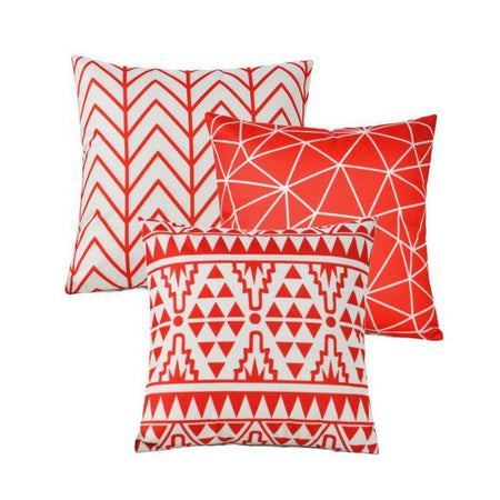 Collection Mayan Red 3 coussins