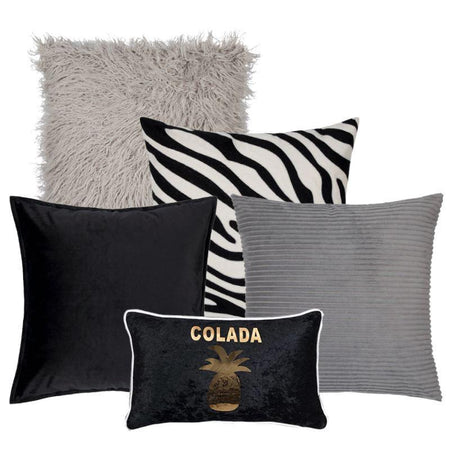 Collection Piña Black 5 coussins