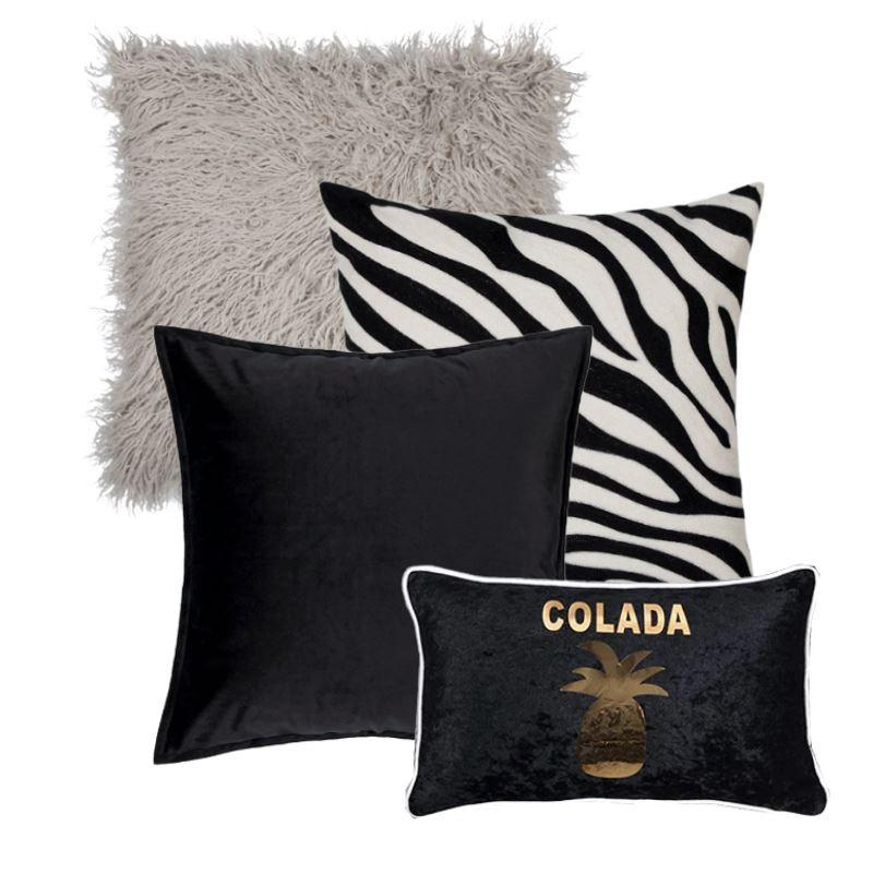 Collection Piña Black 4 coussins