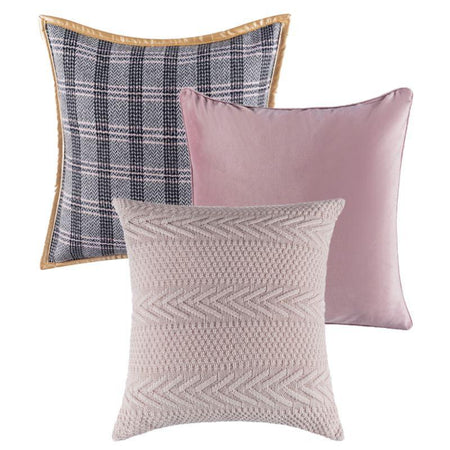 Collection Jacquard Rose 3 coussins