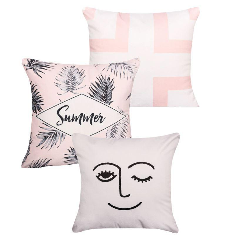 Collection Pink Summer 3 coussins