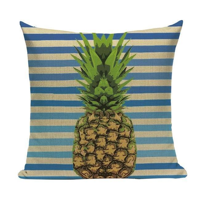 Coussin Ananas Motif Marin | Housse Déco