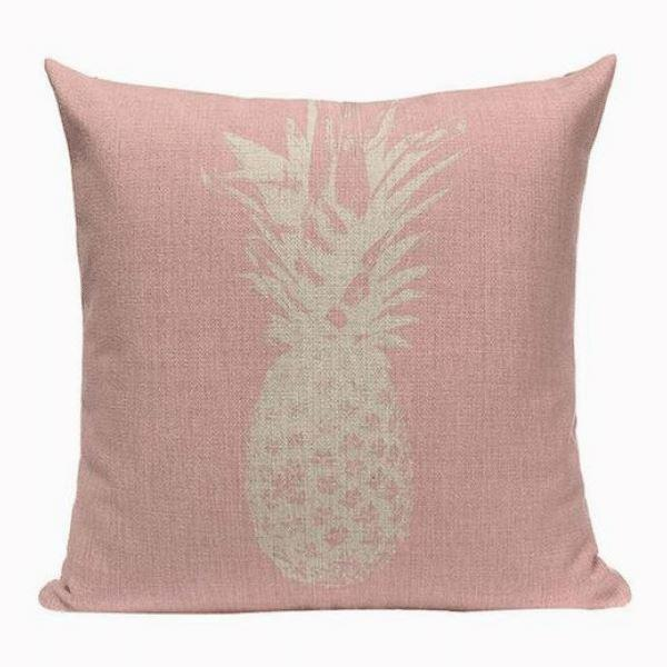 Coussin Ananas Rose | Housse Déco
