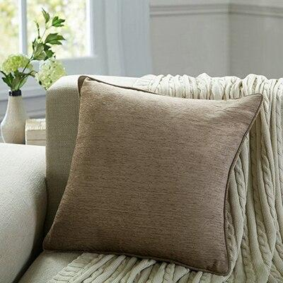 Coussin Chenille Beige