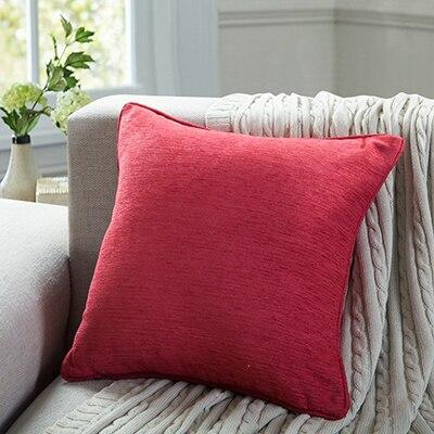 Coussin Chenille Rouge