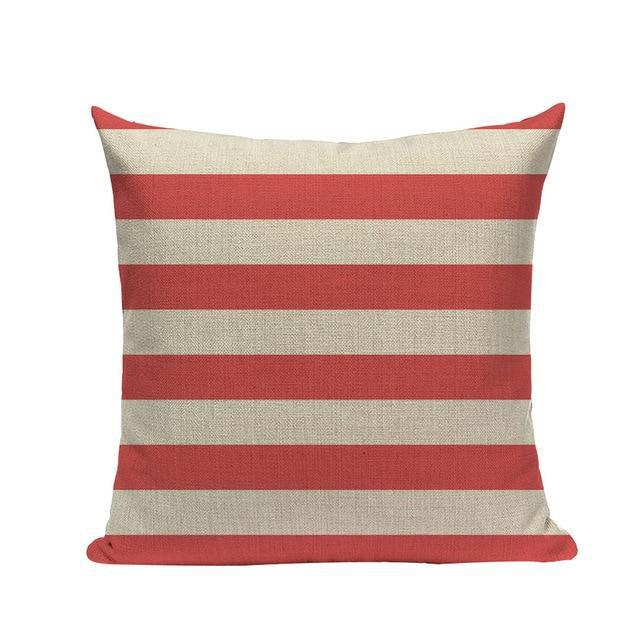 Coussin Rayure Rouge