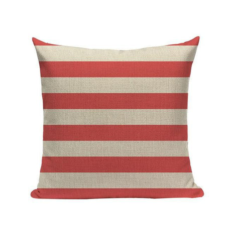Coussin Rayure Rouge | Housse Déco