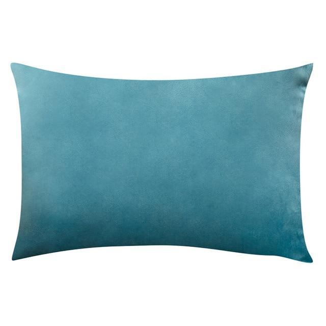 Coussin Rectangulaire Bleu Turquoise