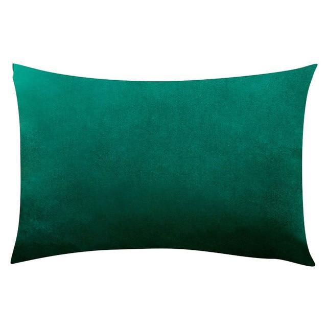 Coussin Rectangulaire Vert Paon