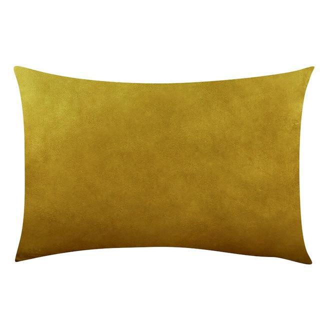 Coussin Rectangulaire Ocre