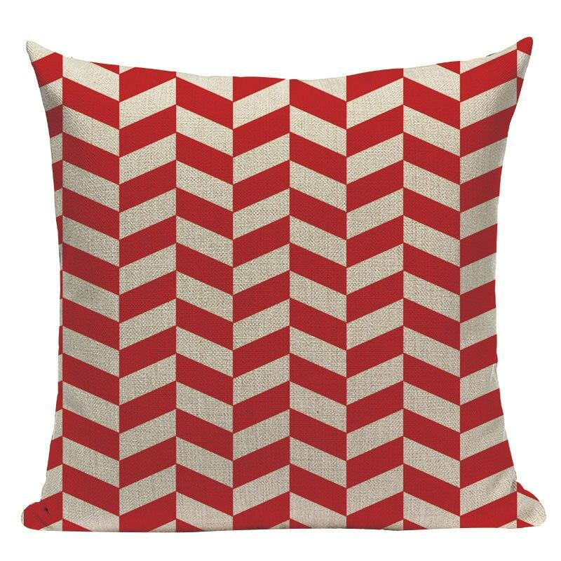 Coussin Scandinave Rouge Blanc