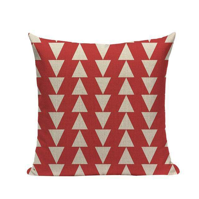 Coussin Rouge Scandinave