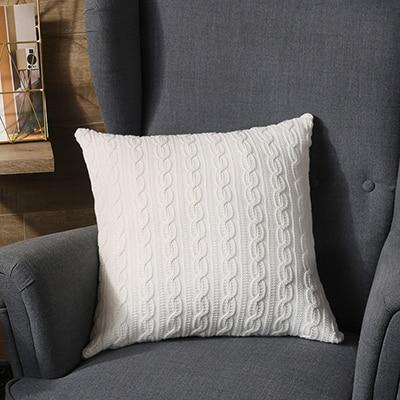 Coussin Tricot Blanc