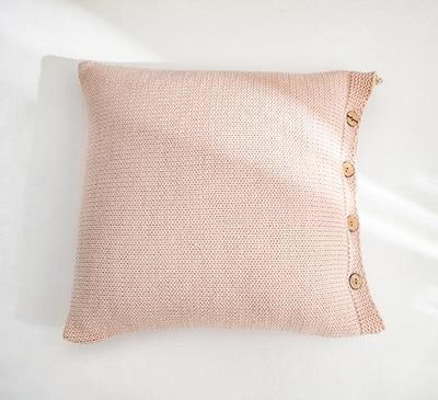 Coussin Tricot Rose