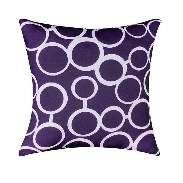 Housse Coussin Rond Violet