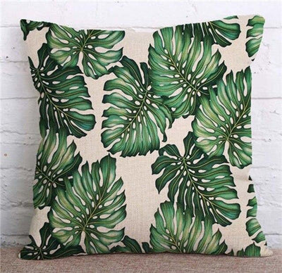Coussin Tropical Grande Feuille