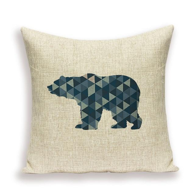 Coussin Ours Bleu