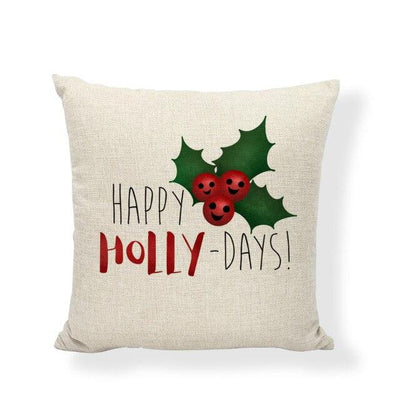 coussin noël déco holly-days
