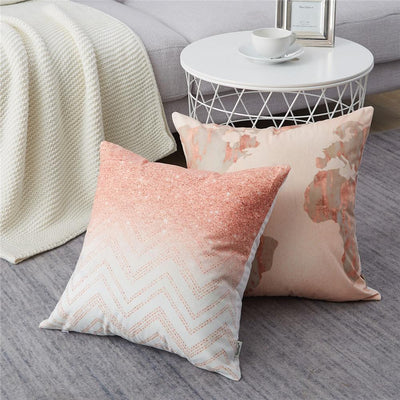Collection Granit Rose 4 coussins