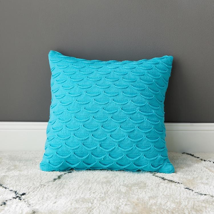 Coussin Bleu Turquoise