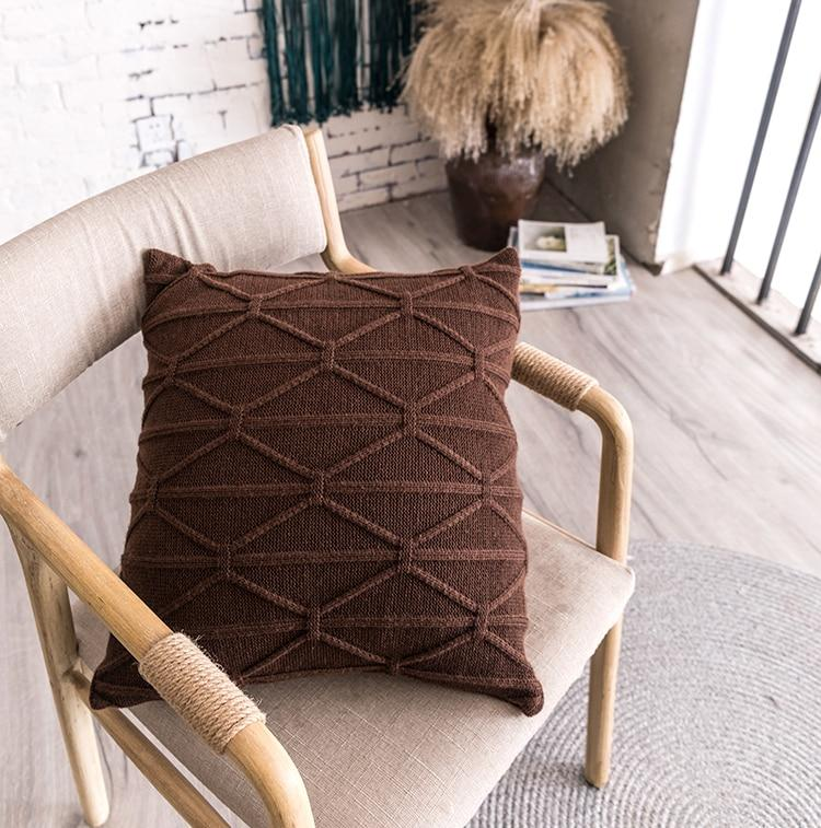 Housse Coussin Tricot Torsade