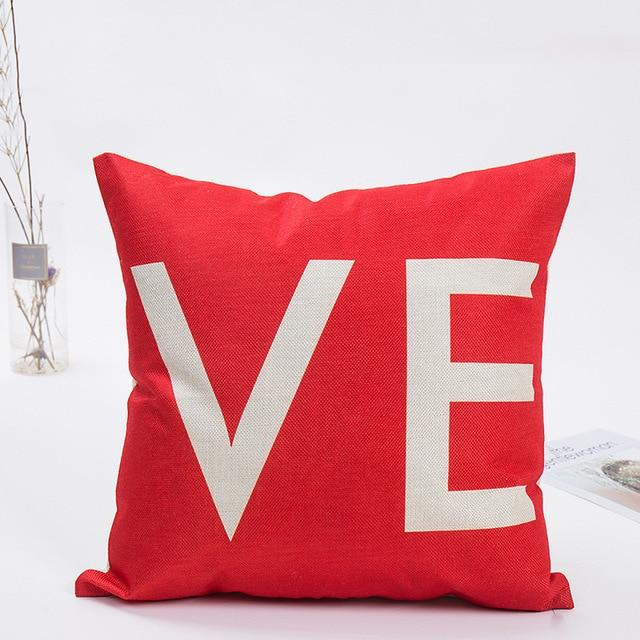 Coussin Tissu Coeur Rouge