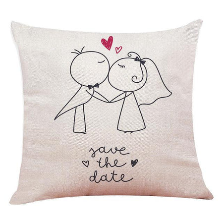 Coussin Coeur Mariage