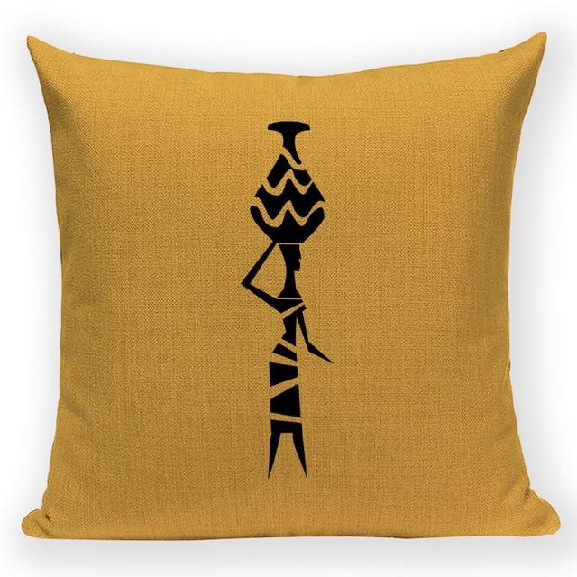 Coussin Africain Jaune