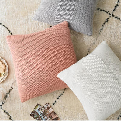 Coussin Coton Rose