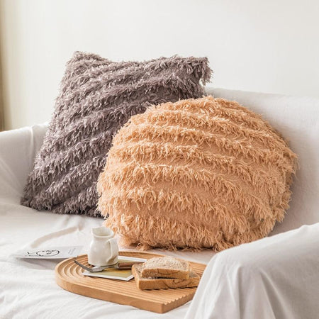 Coussin Rond Fourrure