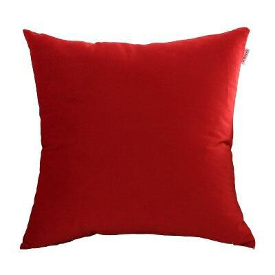 Housse Coussin Velours Rouge