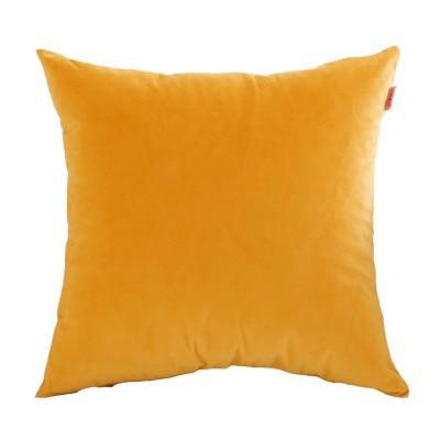 Coussin Velours Jaune Moutarde