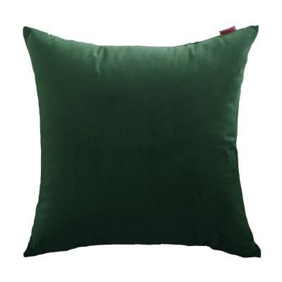 Coussin Velours Vert Anglais