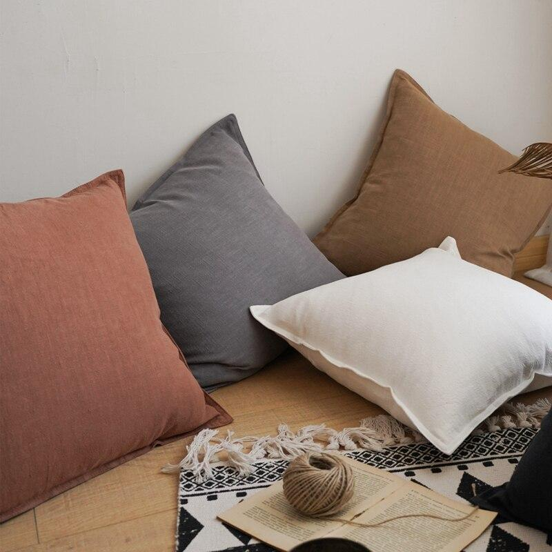 Coussin lin Rouille