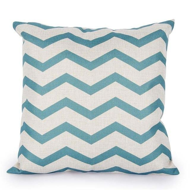 Coussin Style Scandinave Turquoise