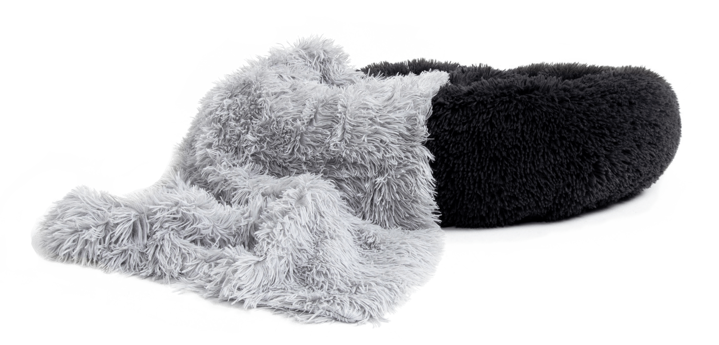 Cozy Cuddler Vegan Fur Calming Cuddler Soothing Throw Blanket for Dogs & Cats Best Friends by Sheri