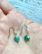 Aventurine / Rose Quartz Earring