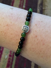 Celtic Knot and Agate Bracelet
