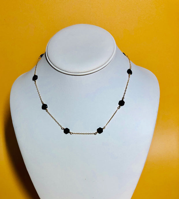 Spinel Hexagon Necklace