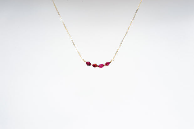 Diamond Garnet Necklace