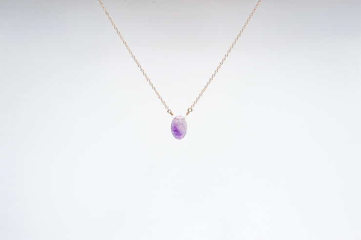 Amethyst and Zircon Necklace