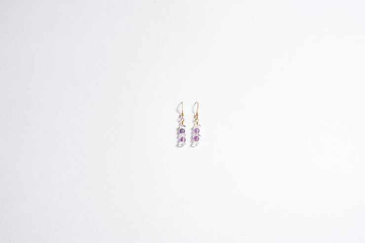 Herkimer Diamond and Gemstone Earring